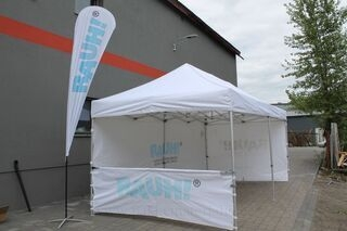 Beach flag 4,3m ja pop up teltta