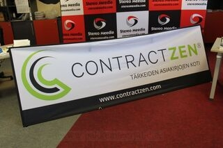 Two sided banner 3x1m