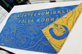 Kootud logoga rätik OK Põlva Kobras