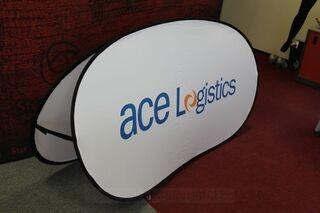 Ace Logistics 200x100cm ovaalne bänner