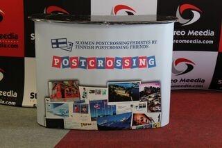 Postcrossing uusi mainospöytä