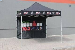 Ironman 70.3 Lahti  logoga reklaamtelk