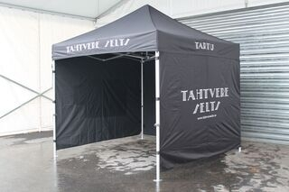 3x3m pop up tent with logo Tähtvere Selts