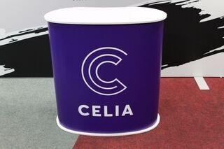 Celia mainospöytä