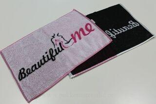Pieni pyyheliine logolla
