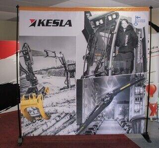 Advertising wall for Kesla
