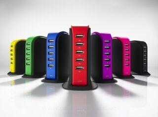 LAADIMISJAAM POWER TOWER, 5 USB 5. pilt